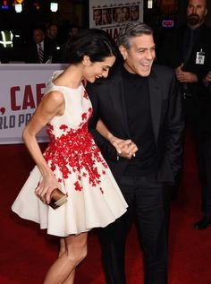 Pin for Later: George and Amal Clooney Are Like a Walking Nicholas Sparks Movie Poster on the Red Carpet