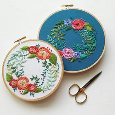 This listing is for two PDF files. These files contain an embroidery pattern and a beginner stitch guide. This listing does NOT include supplies or any finished product. This pattern is for personal use only. Please do not copy or resell finished product. This pattern is a hybrid between my Floral Wreath and Satin Rose designs. If you enjoyed either of those patterns you will like this one, too. This is a fun, versatile pattern. It features seven different stitches to practice...