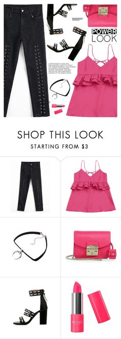 """""""What's Your Power Look?"""" by pokadoll ❤ liked on Polyvore featuring Furla and Hedi Slimane"""
