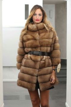 """#Fashion is not something that exists in #dresses only. Fashion is in the #sky, in the #street, fashion has to do with #ideas, the way we #live, what is happening."""" #Sable #Fur, #Madeinitaly http://www.jewelsandfurs.com/web/en/shop/furs/ef001715/ #coat #elegance #beauty #brown #furs #furfashion #pelliccia #furlove #fourrure #mode #мех #мода #luxury #style #love #amazing #beautiful #girl #outfit #shopping #jewelsandfurs"""