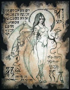 LILITH is the eternal master goddess saviour queen succubus Necronomicon occult demon magick dark spirit vampire spellbinding enchantress