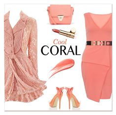 """""""Spring Beauty: Cool Corals"""" by delucia ❤ liked on Polyvore featuring Boohoo, Hourglass Cosmetics, Dorothy Perkins, Elizabeth Arden, River Island, Spring, spring2016 and coolcorals"""