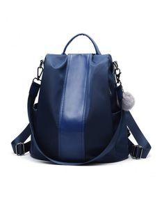 549d3223dc2a Backpack Anti theft Convertible Shoulder Girls Navy - Navy Blue -  CJ18HXDQA0Q