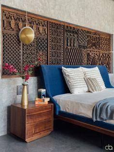 Bedroom Bed Design, Bedroom Furniture Design, Home Room Design, Bedroom Decor, House Design, Wall Decor, Wall Art, Indian Home Interior, Room Interior