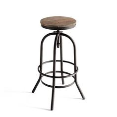 Based on the same mechanism and design of old drafting chairs from the early 1900s, our Middlebury Swivel Stools have a real vintage industrial look. The stools swivel 360 so you can pan the room and speak to guests. The adjustable mechanism lets you find your preferred height. Grandin Rd. 149