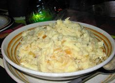 Skirlie Mash. Scottish Mashed Potatoes with Onions and Oats.