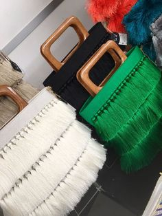 Clutch & Tassel bags with tassels and glass beading is used at front side. Summer collections' base is made of linen fab Bag Women, Potli Bags, Black Dark, Dark Brown, Clutch, Linen Fabric, Summer Collection, Purses And Bags, White Beige