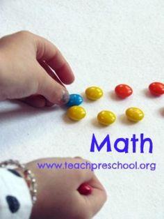 preschool math activities - teachpreschool