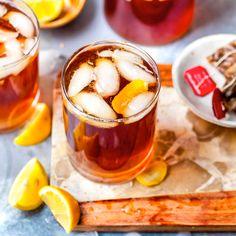 Honeybee Gin & Tea Cocktail Tea Cocktails, Cocktail Recipes, Drink Recipes, Mango Margarita, Frozen Lemonade, Dairy Free Eggs, Recipe Directions, C'est Bon, Mediterranean Recipes