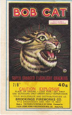 vintage chinese firecracker labels