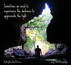 Sometimes we experience the darkness to truly appreciate the light. #mentalhealth #depression #recovery