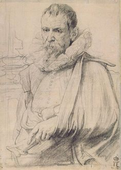 Portrait of Pieter Bruegel the Younger - Anthony van Dyck