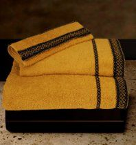 Siena, Cotton Towel Set, 3-pieces, Bath Sheet, Hand Towel, Guest Towel Bath Towel Sets, Bath Towels, 2nd Wedding Anniversary Gift, Fingertip Towels, Lace Decor, Terry Towel, Bath Linens, Guest Towels, Fine Linens