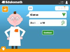 Apprendre les tables de multiplication avec EdukoMath iPad Ipad, Android, Iphone, Family Guy, Classroom, Aide, Maths, Character, Learning Multiplication Facts