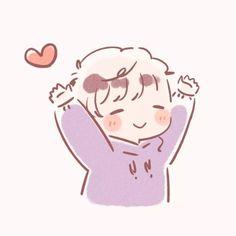 Anime Kawaii, Cute Anime Chibi, Kawaii Chibi, Anime Couples Drawings, Cute Anime Couples, Kawaii Drawings, Cute Drawings, Doodles Bonitos, Cute Couple Wallpaper