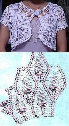 Butterfly Crochet Bolero for Babies and Kids [Free Pattern] Col Crochet, Gilet Crochet, Crochet Collar, Crochet Jacket, Crochet Woman, Crochet Stitches, Free Crochet, Crochet Hats, Bolero Crochet