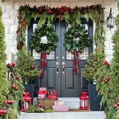 Front door outside, w [den soldier inside house