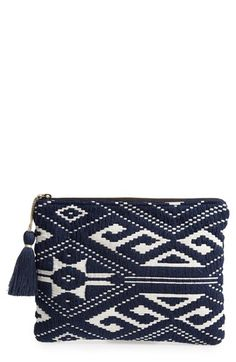 Sole+Society+Geometric+Knit+Pouch+available+at+#Nordstrom