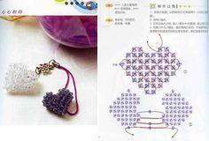 Crystal Heart - Beaded Jewelry Patterns 串珠水晶心形吊坠