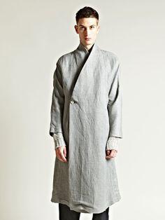 Visions of the Future: Damir Doma Mens Kimono Coat Moda Cyberpunk, Cyberpunk Fashion, Fashion Moda, Kimono Fashion, Mens Fashion, Rick Owens, Moda Kimono, Kimono Coat, Damir Doma