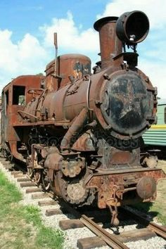 Antique locomotive at the narrow-gauge railway, Museum of Locomotives in Pereslavl, Russia - photo Abandoned Train, Abandoned Buildings, Abandoned Houses, Abandoned Places, Abandoned Castles, Abandoned Mansions, Foto Picture, Old Steam Train, Rail Train