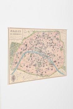 Paris Map Poster, $24.00