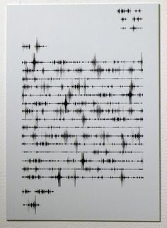 Jennifer Cantwell - Letter home Frequency Typography, the sound of words. Design Graphique, Art Graphique, Lettering, Typography Art, Poesia Visual, Sound Art, Sound Waves, Waves Audio, Grafik Design
