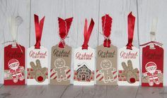 Last-minute tags were so easy to create using the Cookie Cutter Christmas set and Candy Cane Lane DSP.  Part of an assortment of tags and cards shown on my blog:  http://www.stampedsophisticates.com/2016/12/stampin-up-candy-can-lane-tags-and-cards.html
