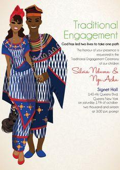 Print unlimited quantities of invitations for you Bamileke Cameroonian… Igbo Wedding, Ghana Wedding, Wedding Ceremony, Wedding Favours, Wedding Cards, Igbo Bride, Ethiopian Wedding, Nigerian Traditional Wedding, African Theme