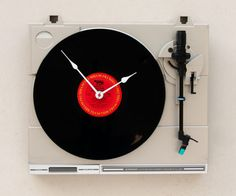 etsy ♥ recycled pioneer turntable clock by pixelthis