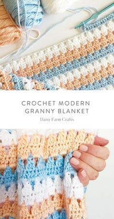crochet stitches patterns This is a free pattern for a crochet modern granny blanket. As I made this crochet modern granny blanket, I felt like I was creating a series of tria Crochet Afghans, Crochet Quilt, Crochet Stitches Patterns, Baby Blanket Crochet, Crochet Baby, Free Crochet, Stitch Patterns, Knitting Patterns, Crochet Throws