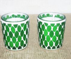 Blue Spruce Soy Votive Candles Eco Friendly by DancingWindDesigns