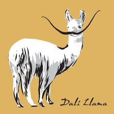 Dalí Llama T-shirt by The Unemployed Philosophers Guild website [for Lynn] 2014