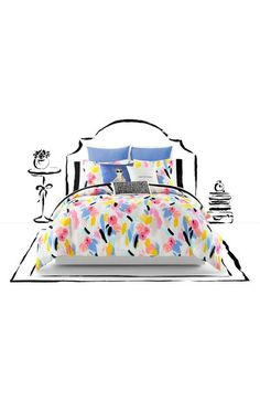 kate spade new york paintball floral comforter set available at #Nordstrom