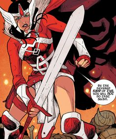 Lady Sif. And other badass comic book superheroines.