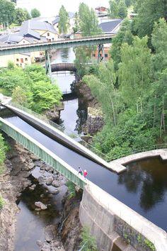 Waterwegen in Zweden. Aquaduct bedacht door Nils Ericson bij Haverud. Hij bedacht ook het Gottakanal.