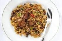 Trini Pelau is an iconic dish of pigeon peas, meat or chicken that is cooked with fresh herbs and coconut milk. The entire dish is flavored ...