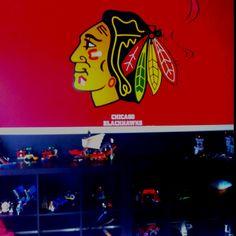 Boy hockey room