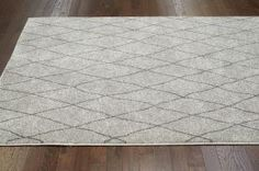 $5 Off when you share! Marrakech Lattice Light Grey Rug | Contemporary Rugs #RugsUSA