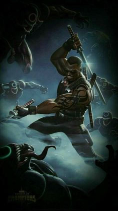 Morbius Set Up for Blade To The Marvel World Marvel Dc Comics, Hq Marvel, Marvel Heroes, Black Anime Characters, Comic Book Characters, Marvel Characters, Comic Character, Eric Brooks, Blade Marvel