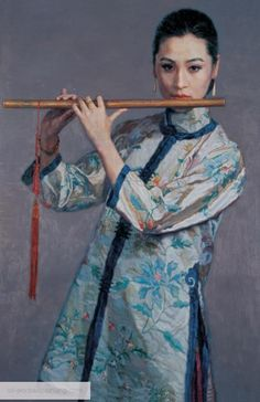 Portrait Painting, Photo To Painting, Painted by Oil Portrait Artist Creative Pictures, Art Pictures, Art Images, Geisha, Chen, Oil Portrait, Korean Art, China Art, Chinese Painting