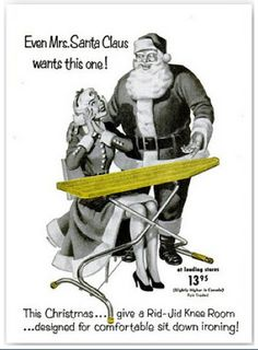 Although I would actually be thrilled with an awesome appliance, I would NOT be down with getting an ironing board for Christmas!