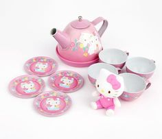Hello Kitty Tin Tea Set