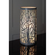 New Grey Tree Scene Cylinder Table Lamp Lights Bedside Bedroom Lounge Gray Tree, Forest Design, Rustic Contemporary, Beautiful Sunrise, Rustic Style, Floor Lamp, Living Spaces, Glow, Table Lamp