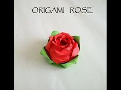 折り紙のバラ How to make an Origami Rose Tutorial 종이 접기 장미 折纸玫瑰 - YouTube