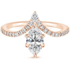 14K Rose Gold Nouveau Diamond Ring (1/4 ct. tw.) from Brilliant Earth