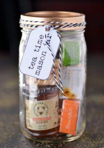 Tea Time Mason Jar | 60 Cute and Easy DIY Gifts in a Jar | Christmas Gift Ideas