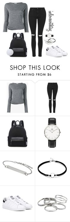 10❤ by inlovewithtay on Polyvore featuring mode, Acne Studios, Topshop, adidas Originals, Daniel Wellington and Kendra Scott