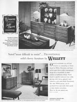 Willett Cherry Transitional Furniture 1956 Ad Picture