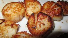 Pan seared scallops.  Gotta have 'em! Huh!